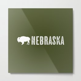 Bison: Nebraska Metal Print
