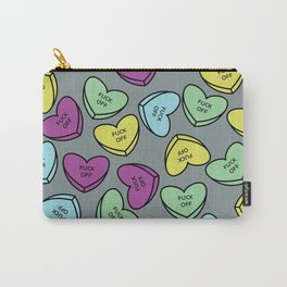 Honest Conversation Hearts Carry-All Pouch
