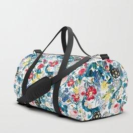 Spring-Summer Botanical Pattern Duffle Bag