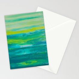 Limes and Blues Stationery Cards