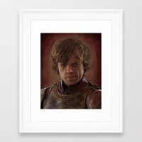 tyrion Framed Art Prints featuring Peter Dinklage as Tyrion Lannister Digital Portrait by davidgloyolart