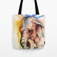 africa Tote Bags featuring Africa by Abigail Leigh