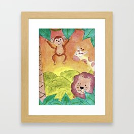 Baby Jungle Framed Art Print