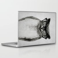 humor Laptop & iPad Skins featuring Mr. Owl by Isaiah K. Stephens