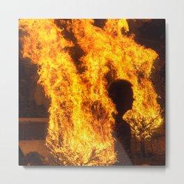 Man In The Fire Metal Print