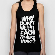 Why don't we eat each others heart? | Dark Unisex Tank Top