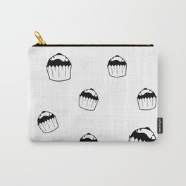 Black and white cupcake Carry-All Pouch