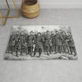 Union Generals of The Civil War Rug