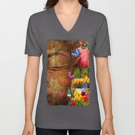Collage Of Happiness  Unisex V-Neck