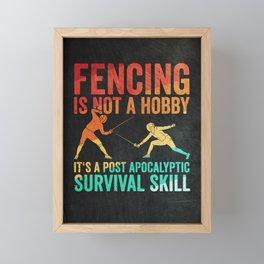 Fencer Fencing Framed Mini Art Print