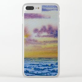 Sunset over the dales Clear iPhone Case