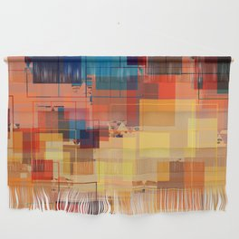 Multi color Square Geometrical Overlays Wall Hanging