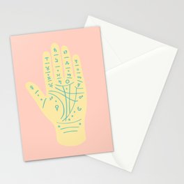 Palmistry Pattern in Peach Stationery Cards