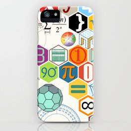 Math in color (white Background) iPhone Case