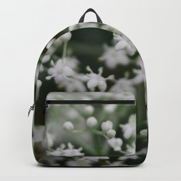 Small little white flowers Backpack