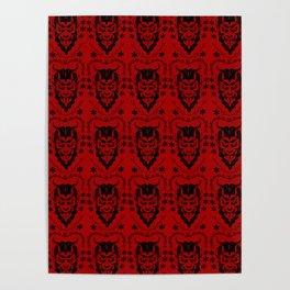 Krampus black on red Poster
