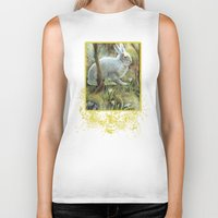 hare Biker Tanks featuring Hare by Natalie Berman