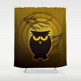 Halloween Owl Shower Curtain
