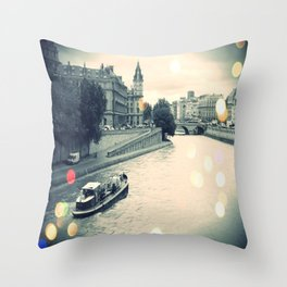 Floating gray Throw Pillow