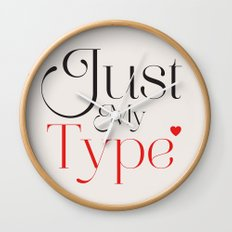 Just My Type Wall Clock