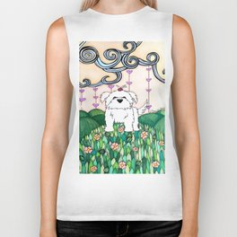 Cameo the Dog on a Hill Biker Tank