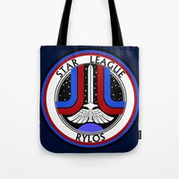 league Tote Bags featuring Star League by CromMorc
