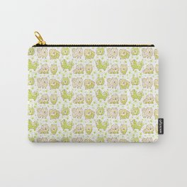 Fun Pomeranian - Green Carry-All Pouch