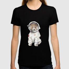Laika Dog Watercolor Illustration Space Pup T-shirt