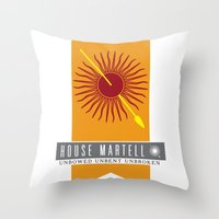 martell Throw Pillows featuring House Martell Sigil by P3RF3KT