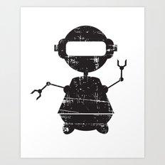 ROBO SI BW Art Print