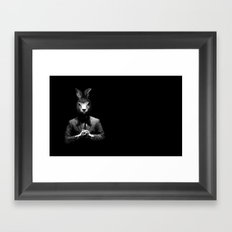 Rabbit Man Framed Art Print