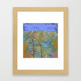 Journey & Jacarandas Framed Art Print