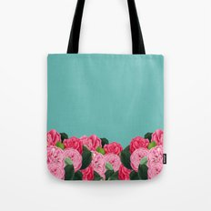 Floral & Turquoise Tote Bag