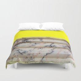 Greek Yellow Marble Duvet Cover