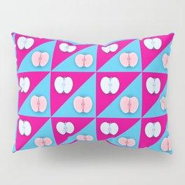 Apples halves pop art pink blue Pillow Sham