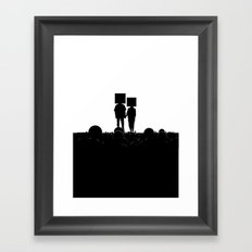I have you. You have me. - US AND THEM Framed Art Print