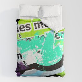 Urban 002, urban graffiti style art Comforters