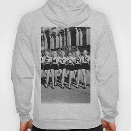 New York Girls in a line, lovely girls on the street - mid century vintage photo Hoody