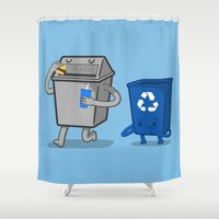 junk food Shower Curtains featuring Junk Food Diet by Jake Friedman