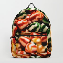 Variation of Hard and Colored Candies background Backpack