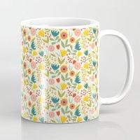 scandinavian Mugs featuring Scandinavian summer by Olly Dolly Design