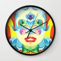 i woke up like this Wall Clocks featuring I Woke up like This by Anai Greog