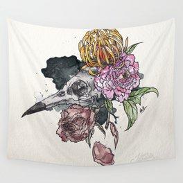 Bird Skull Garden Wall Tapestry