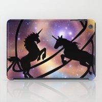 unicorns iPad Cases featuring Space Unicorns by haroulita