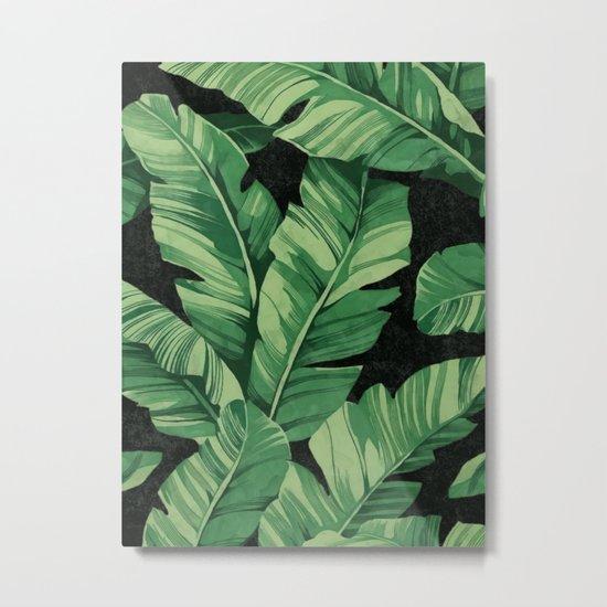 Tropical banana leaves II Metal Print