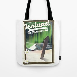 Iceland to Snowboard Tote Bag