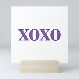 Purple XOXO Mini Art Print