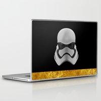 storm trooper Laptop & iPad Skins featuring Storm trooper by berd.