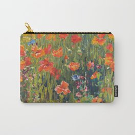 Poppies Painting by Robert William Vonnoh Carry-All Pouch
