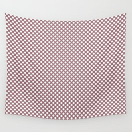 Nostalgia Rose and White Polka Dots Wall Tapestry
